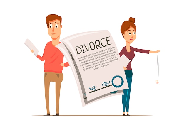 Composition du couple de l'accord de divorce