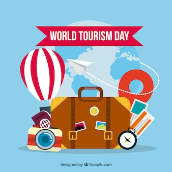 Composition du jour du tourisme mondial amusant