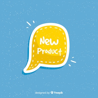 Composition du nouveau produit dessiné à la main coloré
