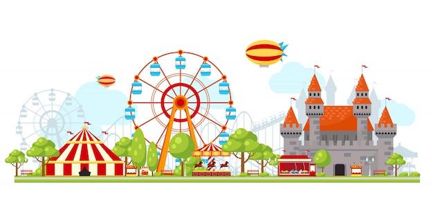 Composition du parc d'attractions
