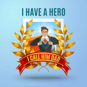 Composition du père super héros