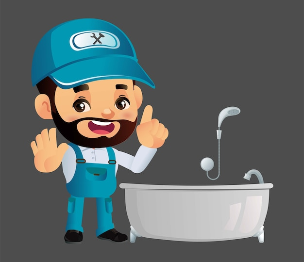 Composition du service de plomberie avec réparateur