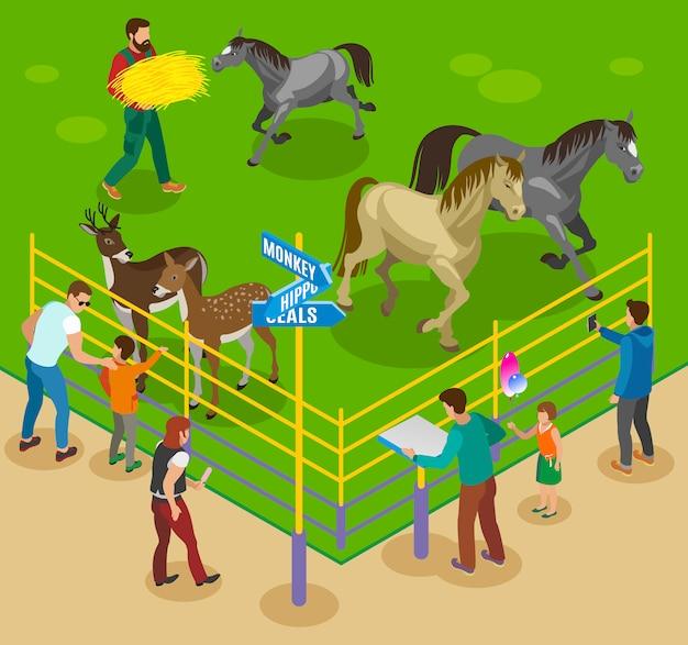 Composition du zoo de la ferme pour enfants