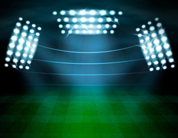 Composition D'éclairage Du Stade De Football Vecteur gratuit