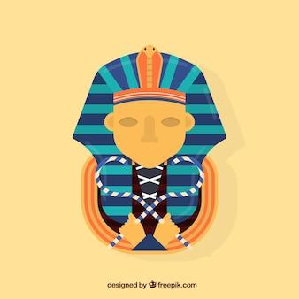 Composition de l'egypte ancienne avec un design plat