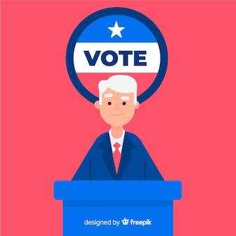Composition de l'élection présidentielle avec design plat
