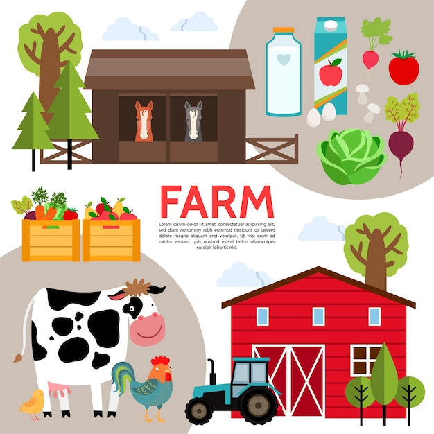 Composition d'éléments agricoles plats