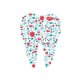 Composition d'éléments dentaires à plat