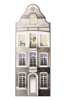Composition de façade de maison classique