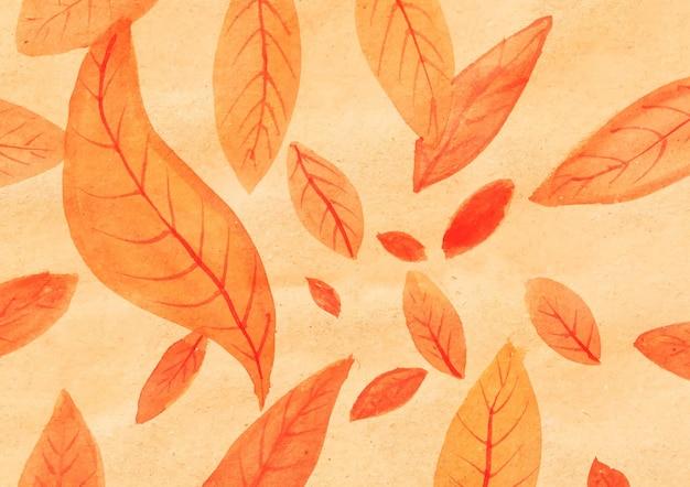 Composition de feuilles à l'aquarelle