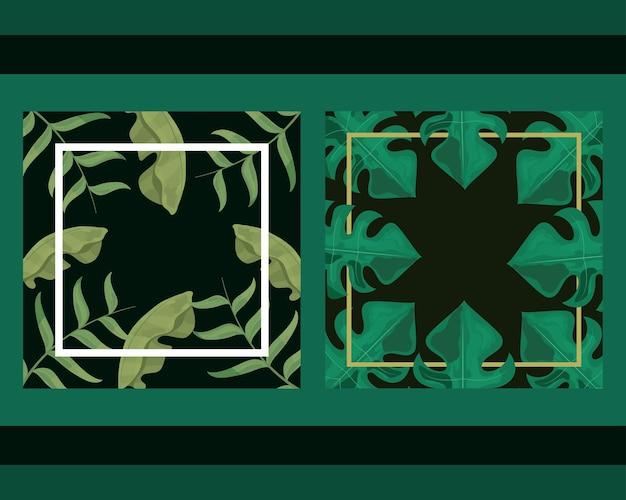 Composition de feuilles de palmier