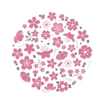 Composition de fleurs de fleurs isolée