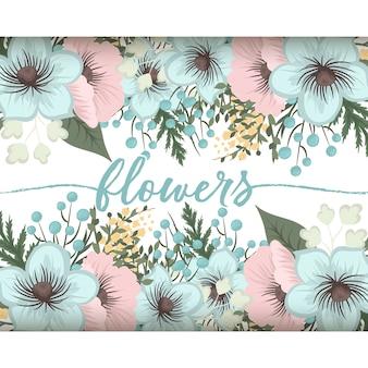 Composition florale avec des fleurs colorées.