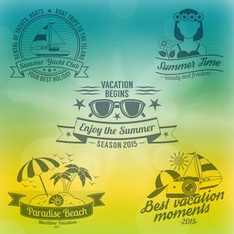 Composition de fond d'été