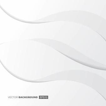 Composition de fond fluide moderne blanc avec des vagues et des ombres
