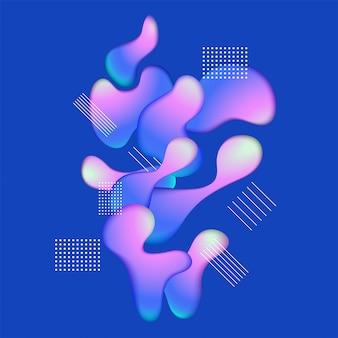 Composition de forme dégradée ondulée géométrique abstrait.