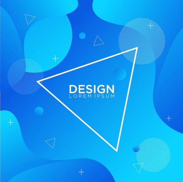 Composition de formes de dégradé de fluide de conception de fond de couleur liquide