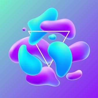 Composition avec formes liquides