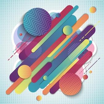 Composition géométrique colorée abstraite