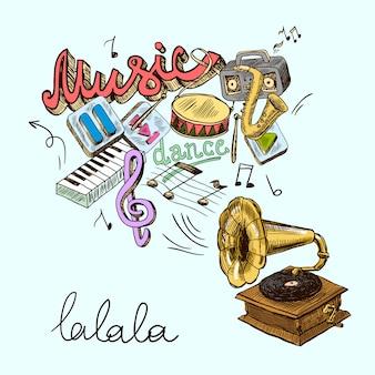 Composition de gramophone