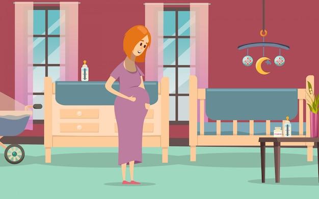 Composition de grossesse colorée