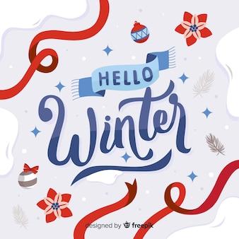 Composition d'hiver avec une belle typographie