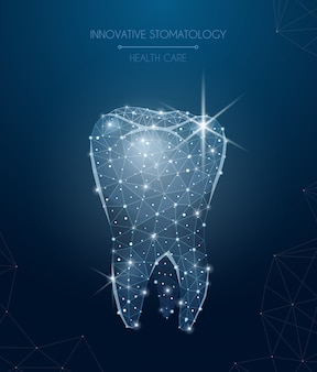 Composition innovante de stomatologie avec des symboles de soins de santé et de traitement illustration réaliste