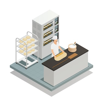 Composition isométrique de boulangerie