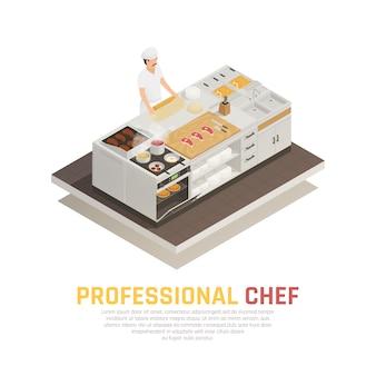Composition isométrique de cuisine
