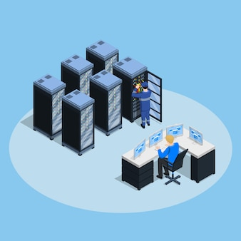 Composition isométrique du centre de données
