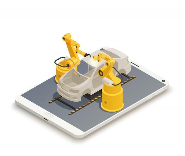 Composition isométrique de l'industrie intelligente de la fabrication.