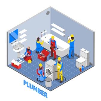 Composition isométrique de plombier