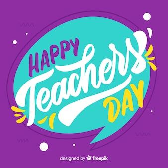 Composition de la journée des enseignants avec lettrage moderne