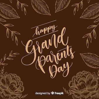 Composition de la journée des grands-parents avec lettrage élégant