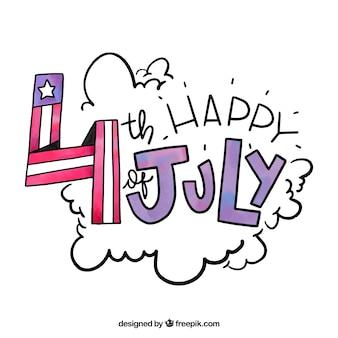 Composition de la journée de l'indépendance des états-unis avec de beaux caractères