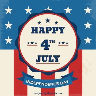 Composition de la journée de l'indépendance des états-unis avec style vintage