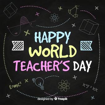 Composition de la journée mondiale des enseignants avec typographie moderne