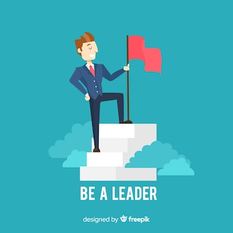 Composition de leadership moderne avec un design plat