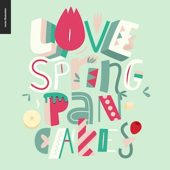 Composition de lettrage love spring crancakes