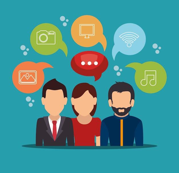 Composition des médias des réseaux sociaux