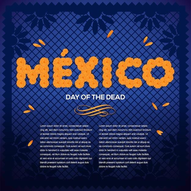 Composition mexicaine du jour des morts - espace copie