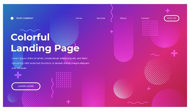 Composition minimale de formes dynamiques de fond géométrique pour la page de destination