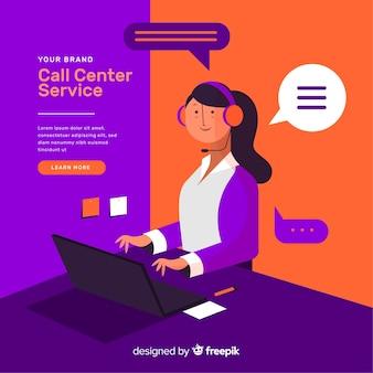 Composition moderne du centre d'appels