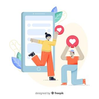Composition moderne en ligne