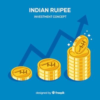 Composition moderne de roupies indiennes