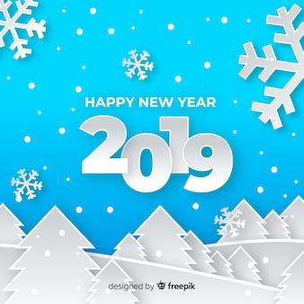 Composition de nouvel an avec un style élégant