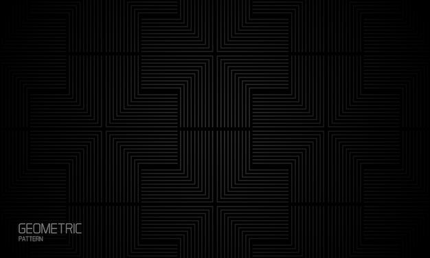 Composition palmée abstrait fond noir géométrique