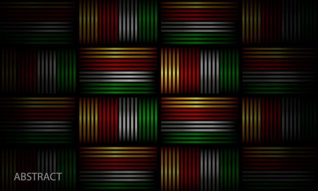 Composition palmée de fond géométrique brillant
