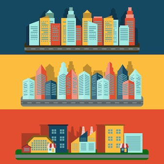 Composition de paysage urbain
