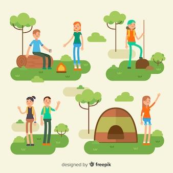 Composition des personnes pratiquant des activités de plein air